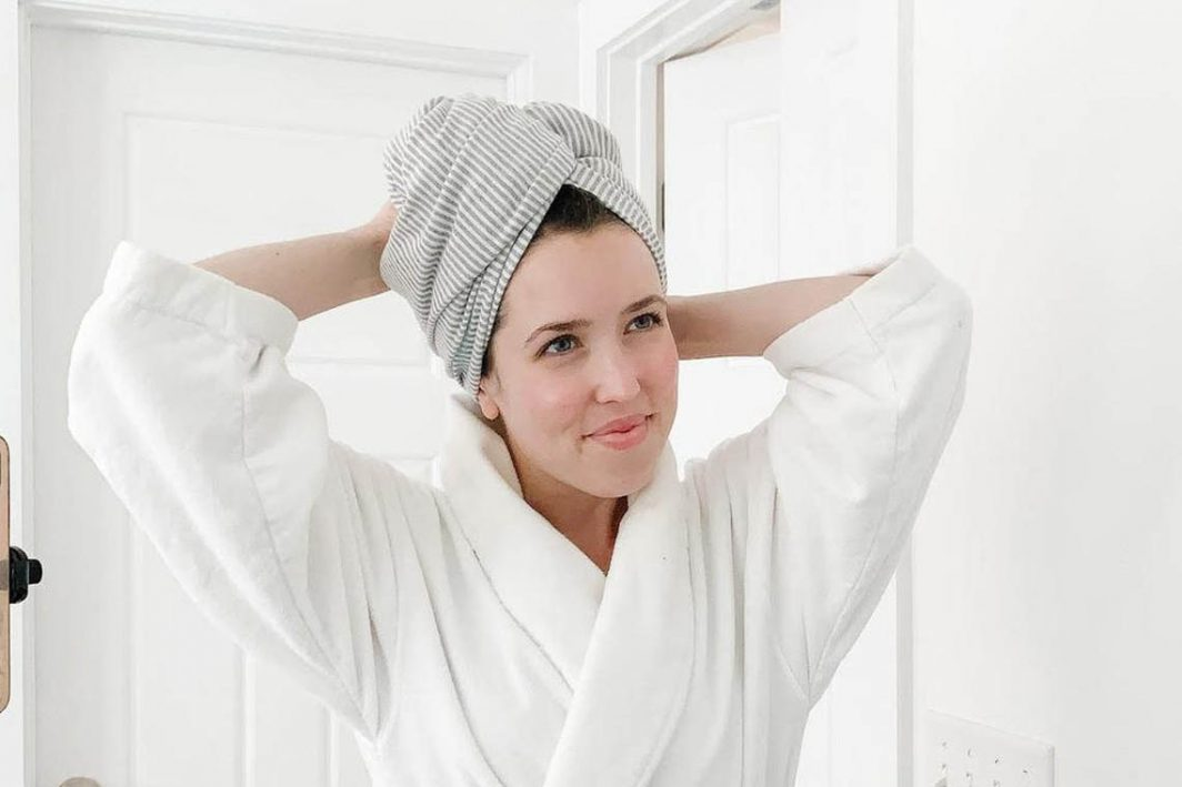 Sunrise Bliss large tshirt hair towel